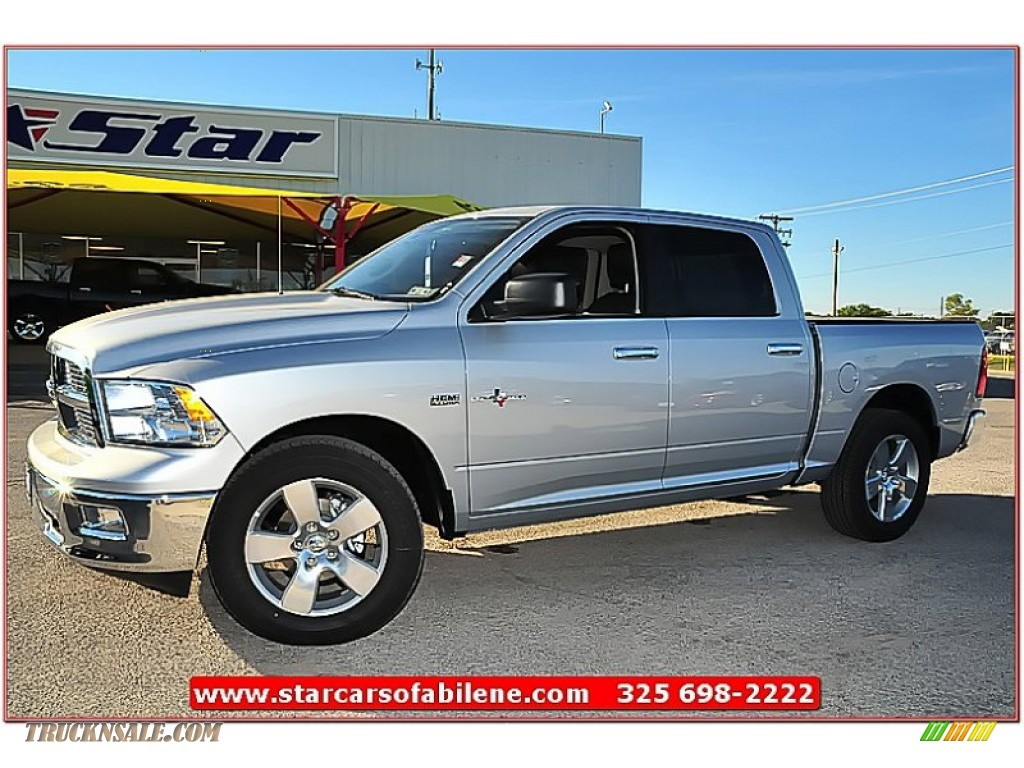 2012 dodge ram 1500 lone star crew cab in bright silver metallic 349047 truck n 39 sale