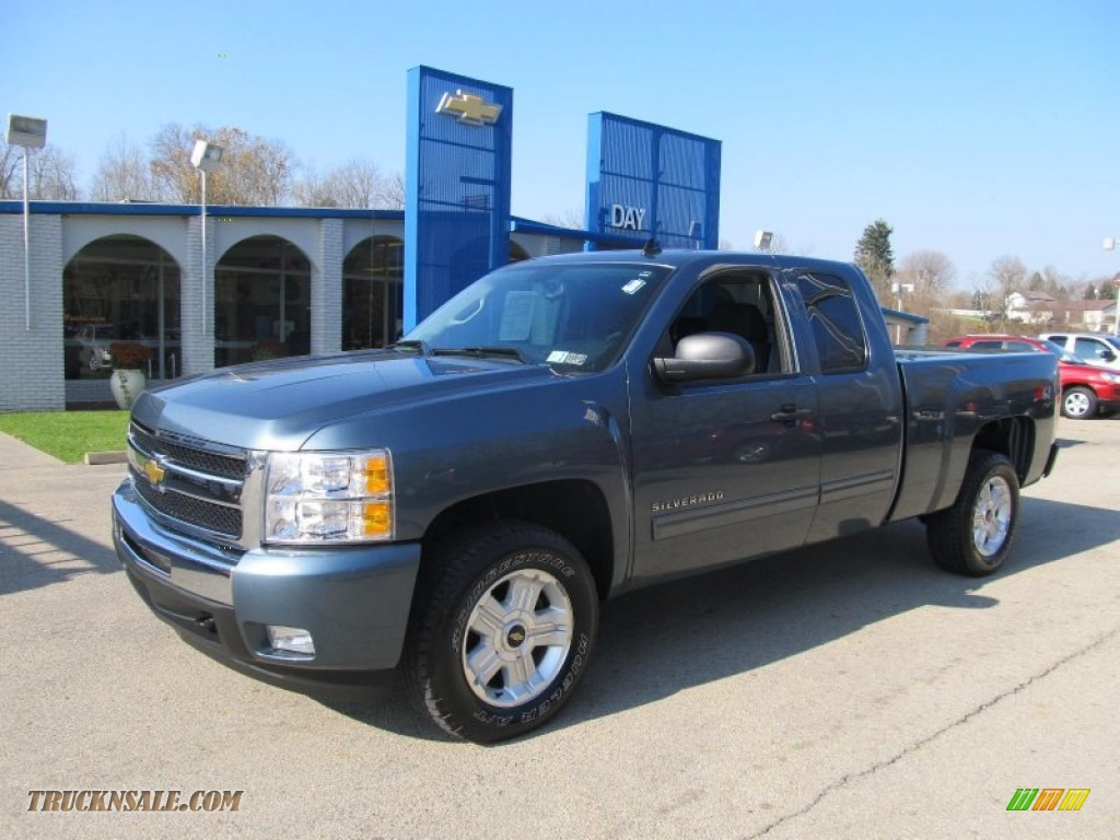 2011 chevrolet silverado 1500 lt extended cab 4x4 in blue granite metallic 227146 truck n 39 sale. Black Bedroom Furniture Sets. Home Design Ideas