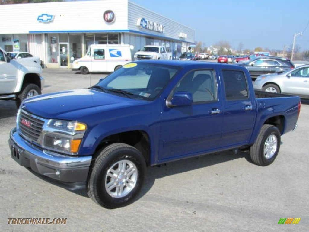 2012 gmc canyon sle crew cab 4x4 in navy blue 110427 truck n 39 sale. Black Bedroom Furniture Sets. Home Design Ideas