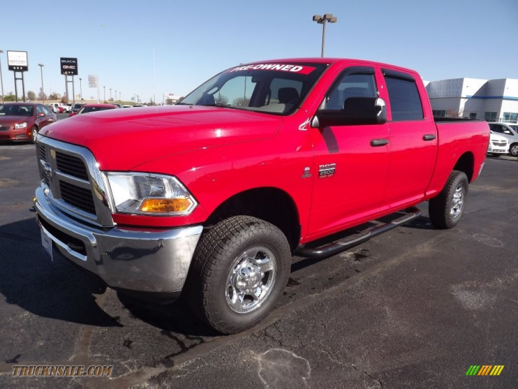 2011 dodge ram 2500 hd st crew cab 4x4 in flame red