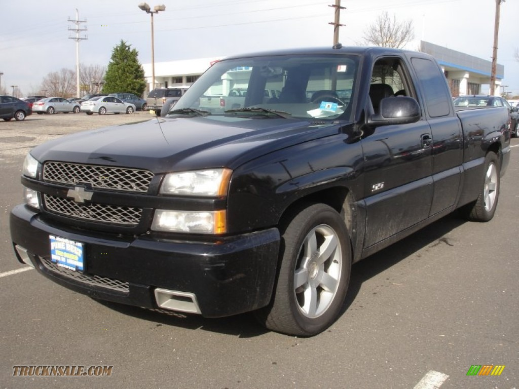 2004 chevrolet silverado 1500 ss extended cab awd in black. Black Bedroom Furniture Sets. Home Design Ideas
