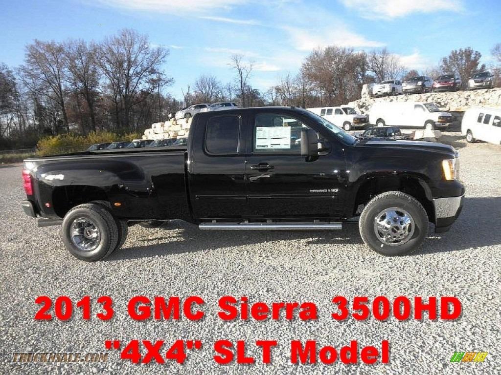 2013 GMC Sierra 3500HD SLT Extended Cab 4x4 Dually in Onyx ...