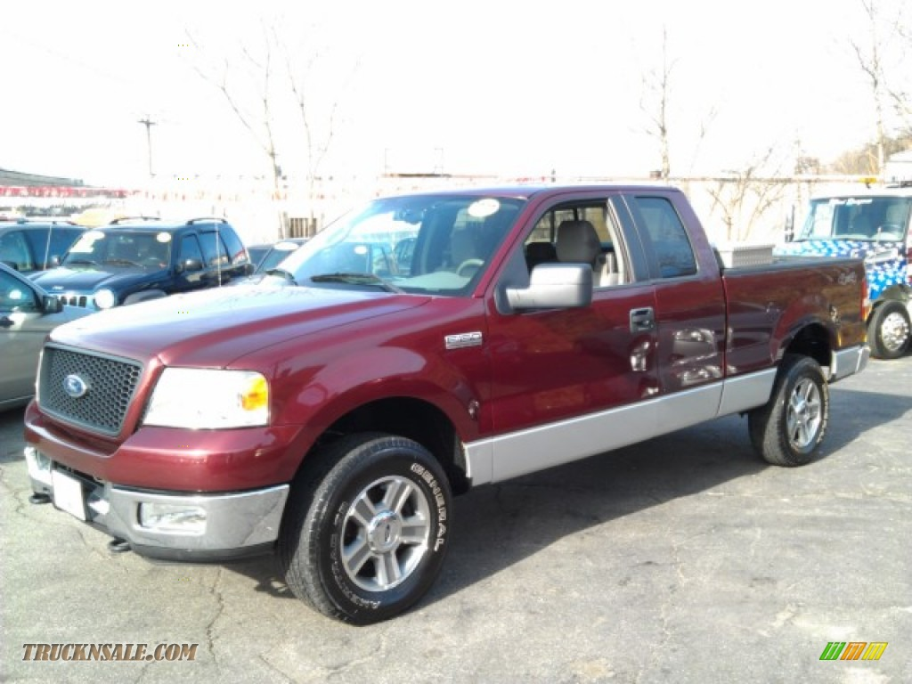 2005 ford f150 xlt supercab 4x4 in dark toreador red. Black Bedroom Furniture Sets. Home Design Ideas