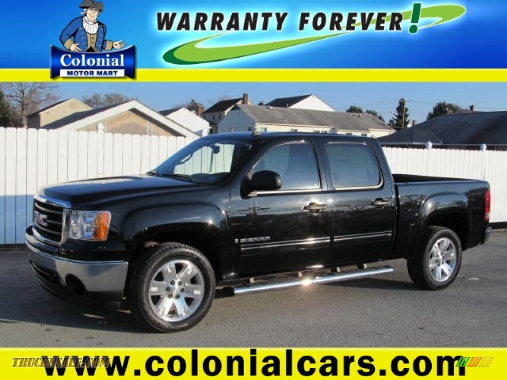 2008 gmc sierra 1500 sle crew cab 4x4 in onyx black photo for Colonial motors indiana pa