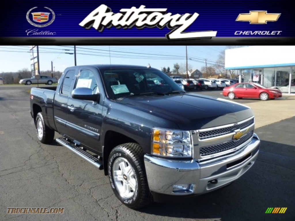 2013 chevrolet silverado 1500 lt extended cab 4x4 in blue ray metallic 193626 truck n 39 sale. Black Bedroom Furniture Sets. Home Design Ideas