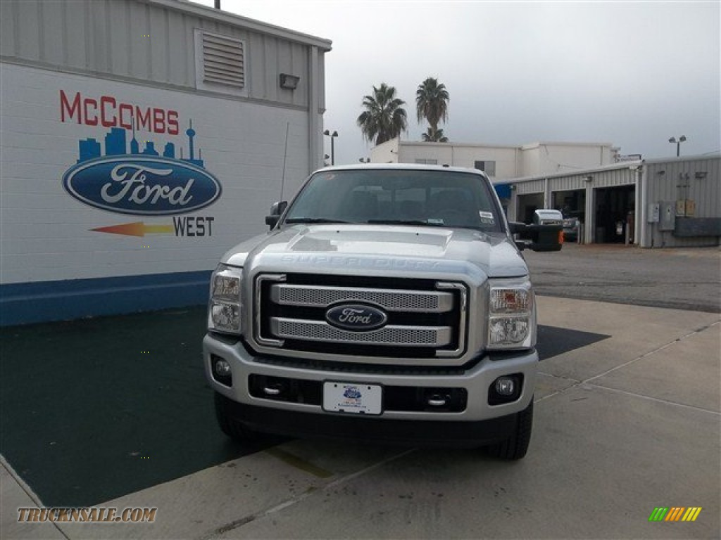 2013 Ford F250 Super Duty Platinum Crew Cab 4x4 in Ingot Silver