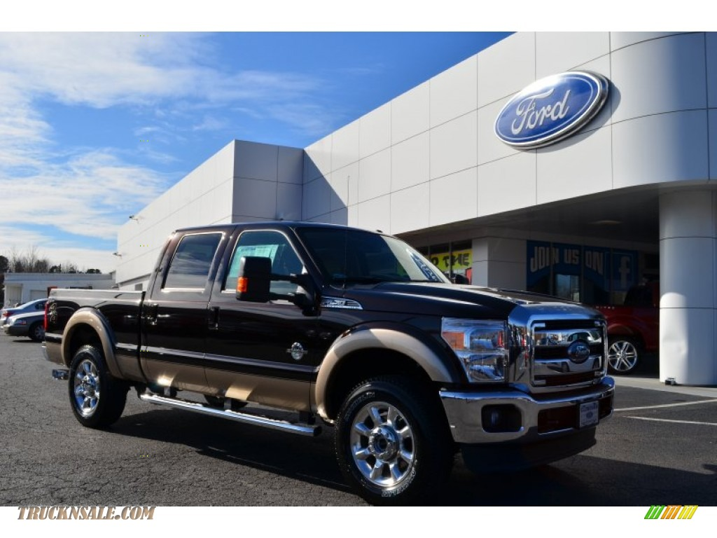 Kodiak Brown Metallic / Adobe Ford F250 Super Duty Lariat Crew Cab 4x4
