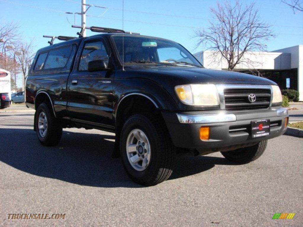 1998 toyota tacoma regular cab 4x4 in black metallic 068175 truck n 39 sale. Black Bedroom Furniture Sets. Home Design Ideas