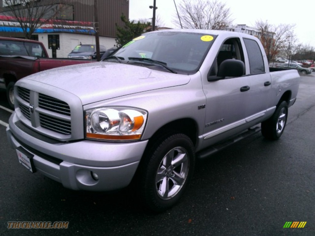 2006 dodge ram 1500 sport quad cab 4x4 in bright silver metallic 524603 truck n 39 sale. Black Bedroom Furniture Sets. Home Design Ideas