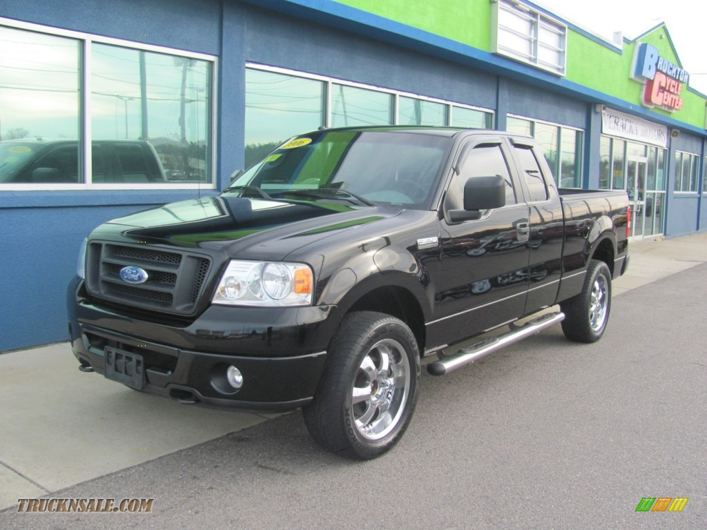 2006 Ford F150 Stx Supercab 4x4 In Black A52684 Truck