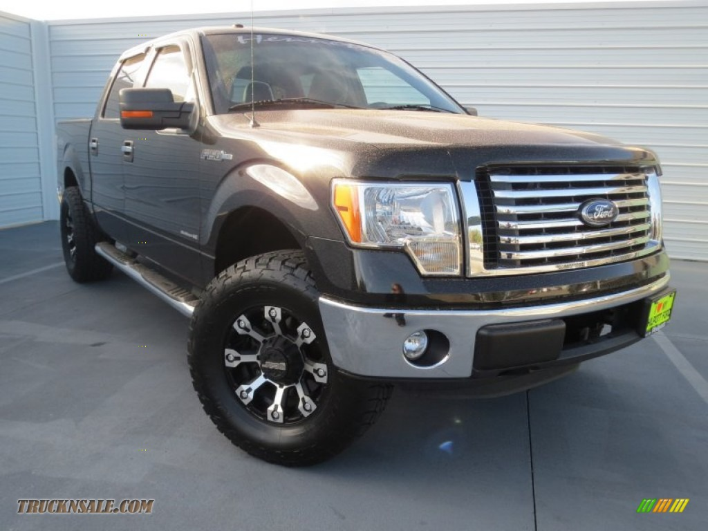2013 F150 Xlt Supercrew 4x4 Tuxedo Black Metallic Steel Gray Photo Male Models Picture