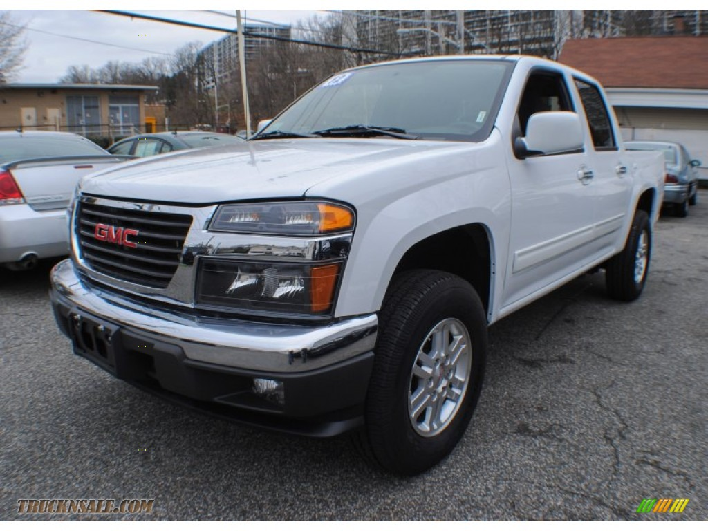 2012 gmc canyon sle crew cab 4x4 in summit white 133428 truck n 39 sale. Black Bedroom Furniture Sets. Home Design Ideas