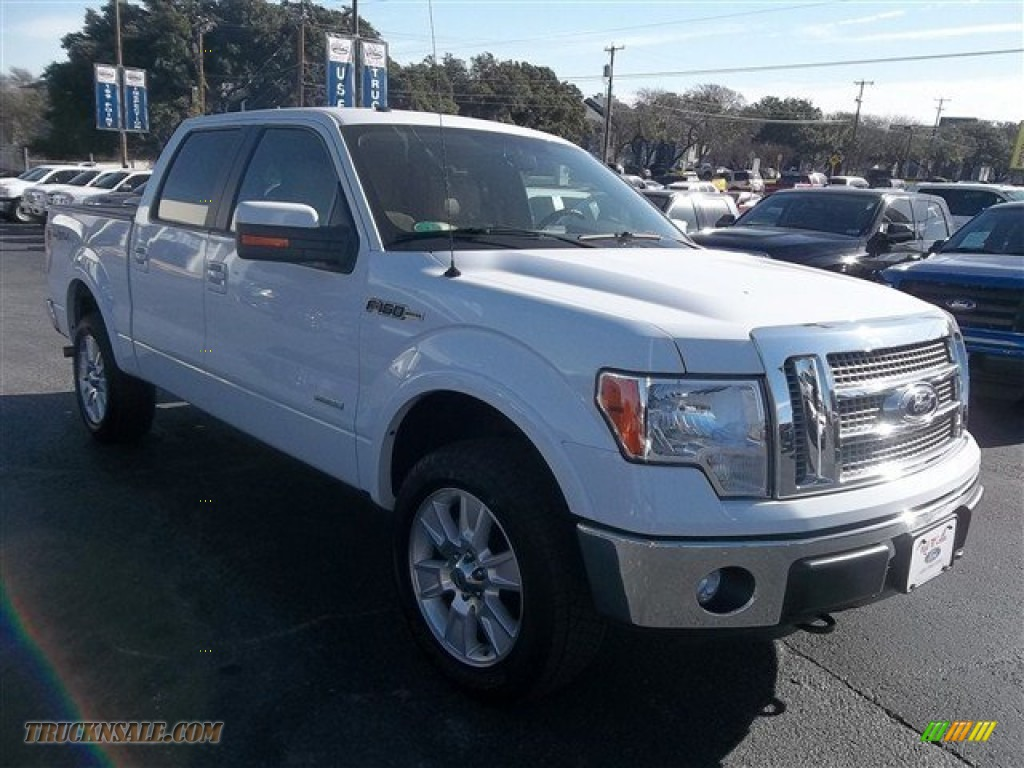 2012 ford f150 lariat supercrew 4x4 in oxford white a89584 truck n 39 sale. Black Bedroom Furniture Sets. Home Design Ideas