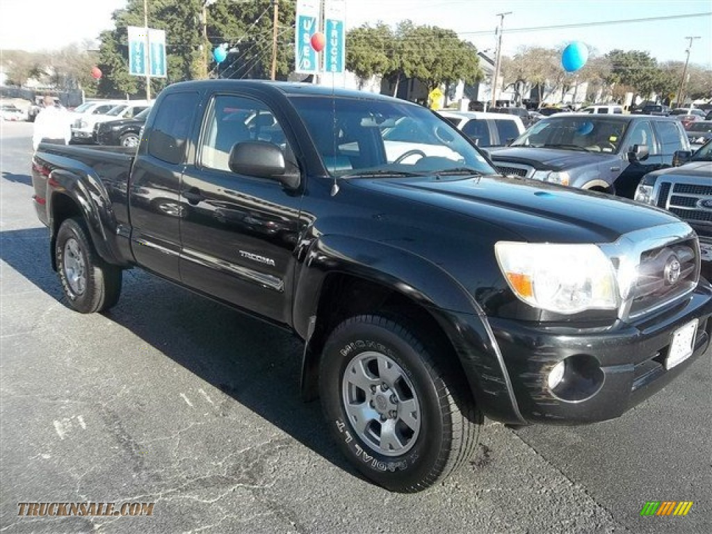 2005 toyota tacoma v6 trd access cab 4x4 in black sand pearl 023840 truck n 39 sale. Black Bedroom Furniture Sets. Home Design Ideas