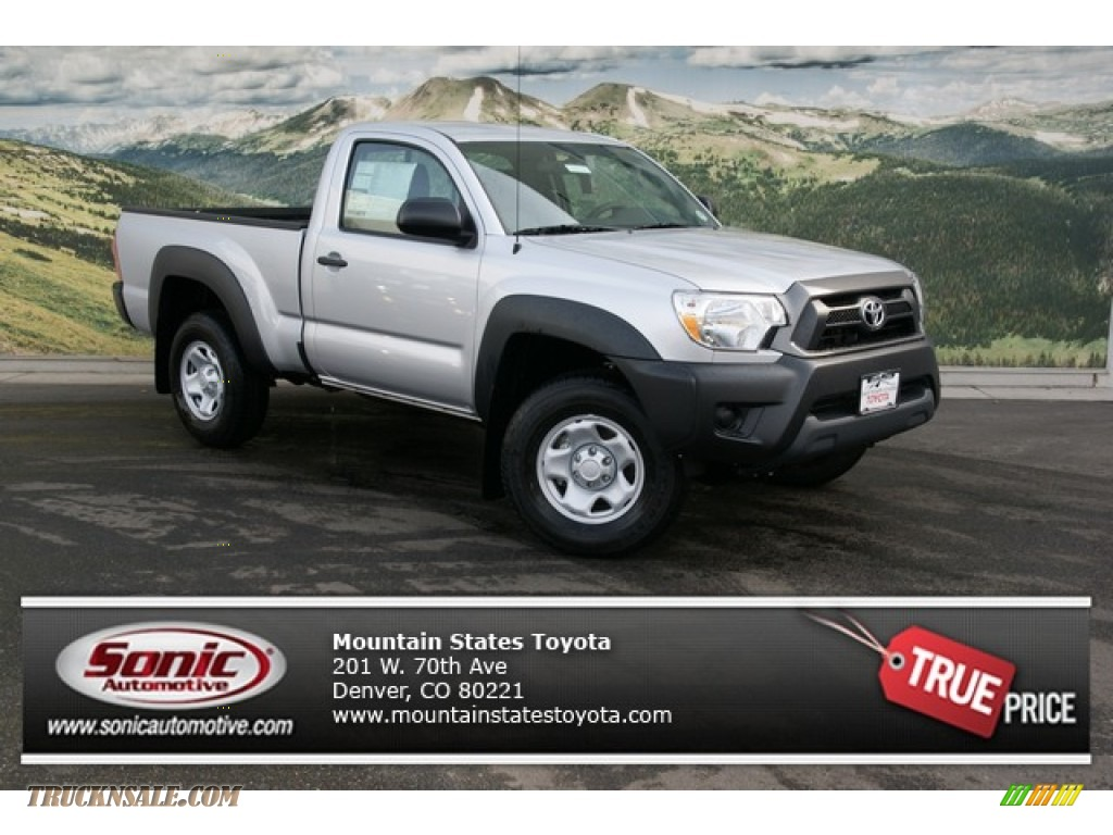 2013 toyota tacoma regular cab 4x4 in silver streak mica 015236 truck n 39 sale. Black Bedroom Furniture Sets. Home Design Ideas