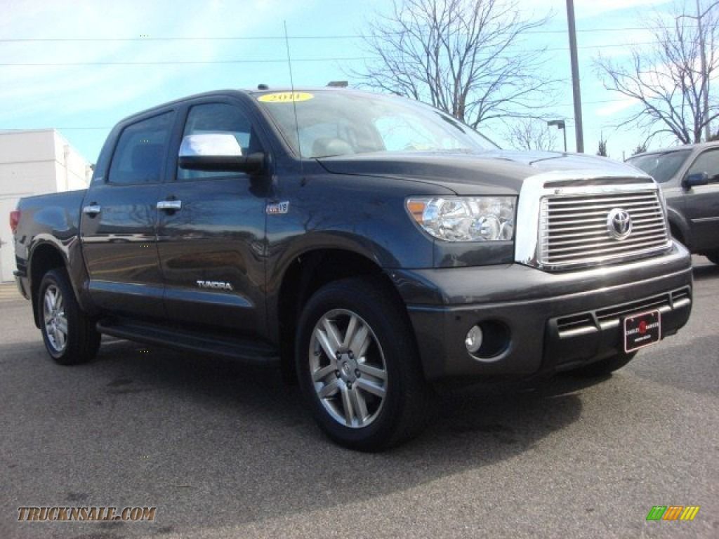 2011 toyota tundra limited crewmax 4x4 in magnetic gray metallic 180369 truck n 39 sale. Black Bedroom Furniture Sets. Home Design Ideas