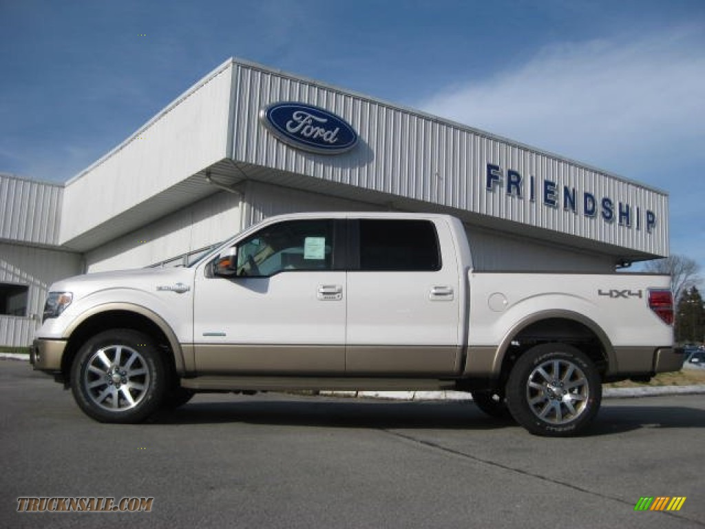 2013 ford f150 king ranch supercrew 4x4 in white platinum metallic tri coat d78864 truck n 39 sale. Black Bedroom Furniture Sets. Home Design Ideas