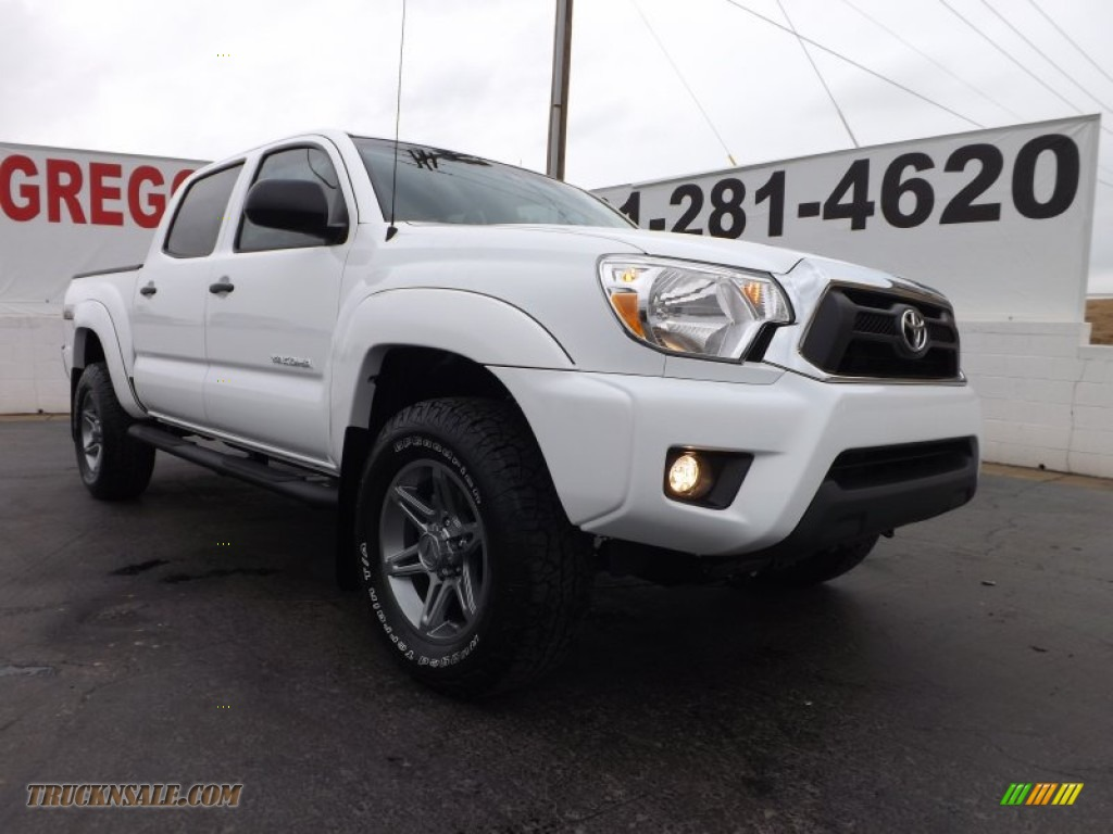 2013 toyota tacoma v6 tss prerunner double cab in super white 039399 truck n 39 sale. Black Bedroom Furniture Sets. Home Design Ideas