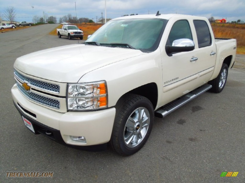 2013 Silverado 1500 LTZ Crew Cab 4x4 - White Diamond Tricoat / Ebony photo #1