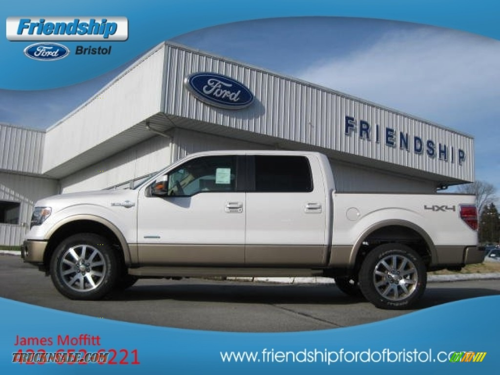 2013 ford f150 king ranch supercrew 4x4 in white platinum metallic tri coat d72292 truck n 39 sale. Black Bedroom Furniture Sets. Home Design Ideas