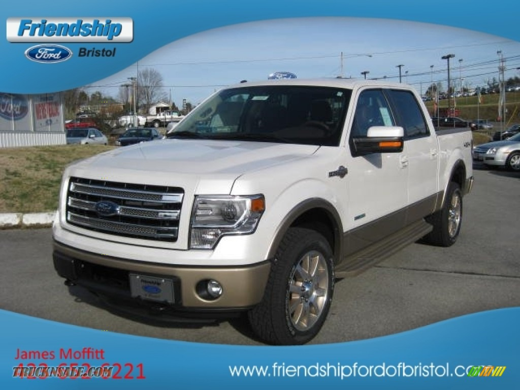 2013 ford f150 king ranch supercrew 4x4 in white platinum metallic tri coat photo 3 d72292. Black Bedroom Furniture Sets. Home Design Ideas