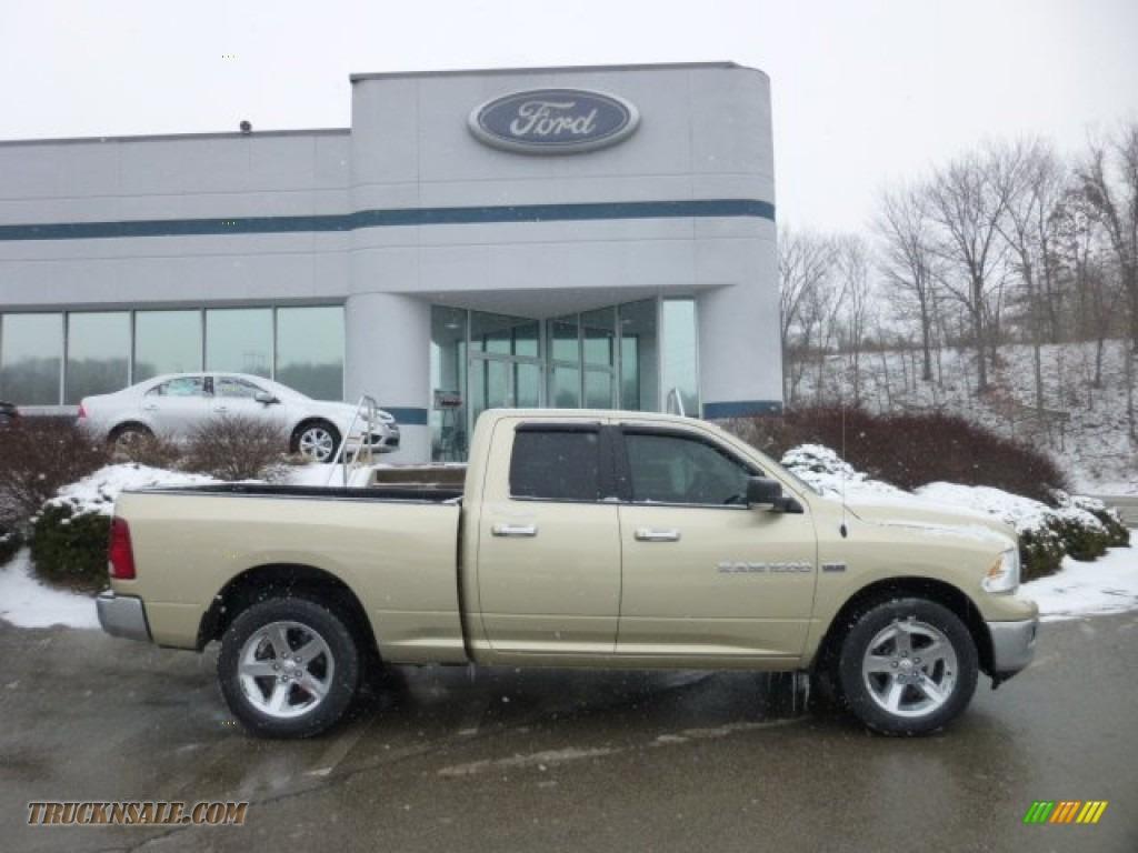 2011 dodge ram 1500 big horn quad cab 4x4 in white gold 704676 truck n 39 sale. Black Bedroom Furniture Sets. Home Design Ideas