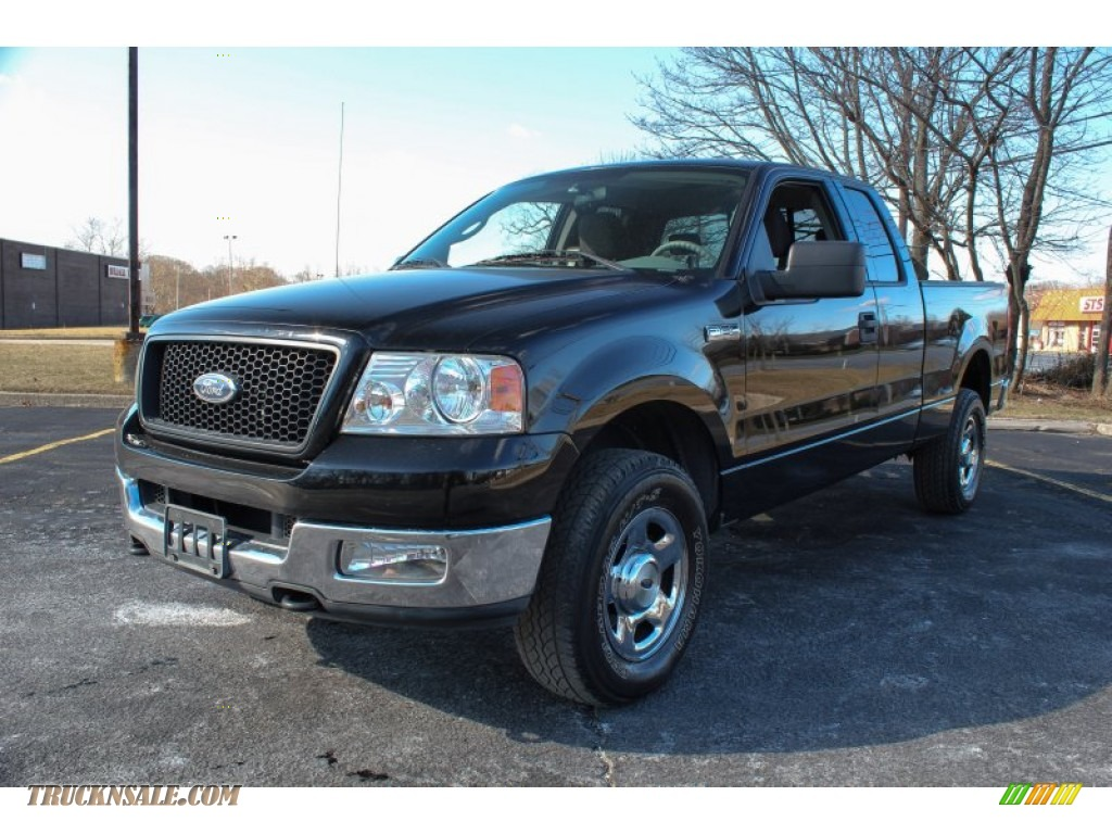2004 ford f150 stx supercab 4x4 in black a04681 truck. Black Bedroom Furniture Sets. Home Design Ideas
