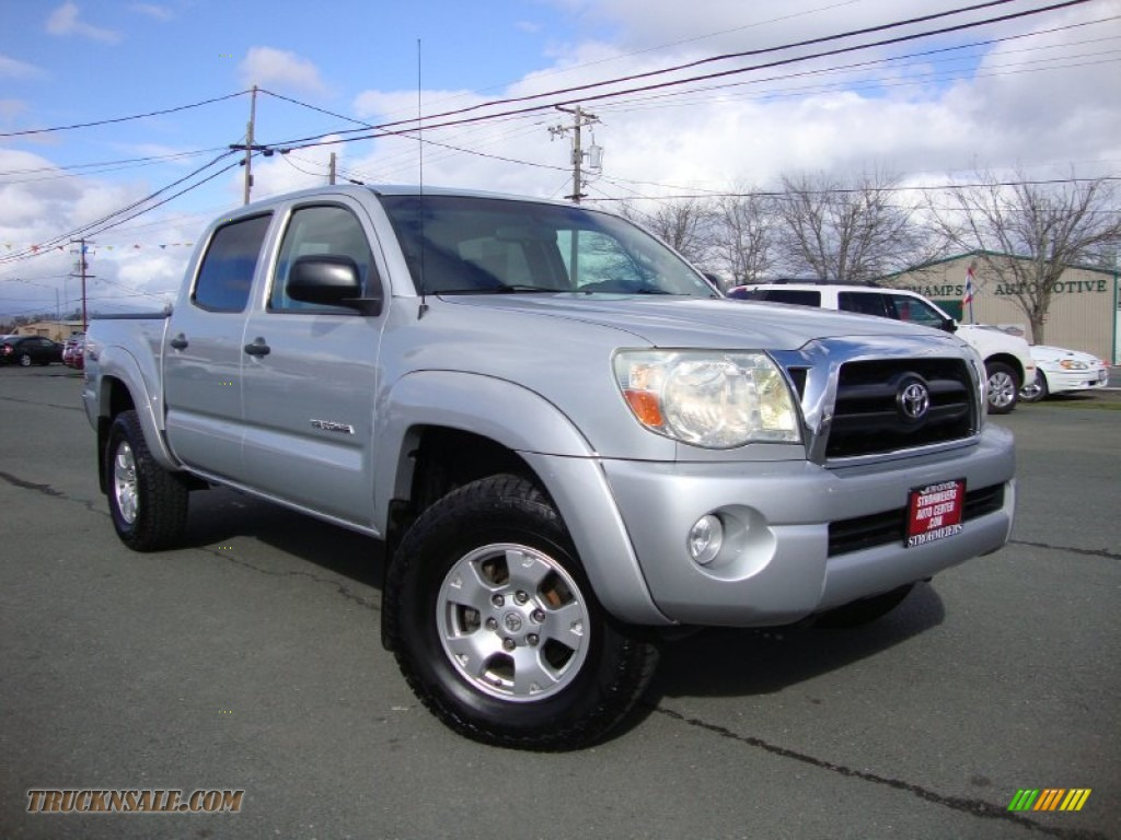 2008 toyota tacoma v6 prerunner trd double cab in silver streak mica 059074 truck n 39 sale. Black Bedroom Furniture Sets. Home Design Ideas