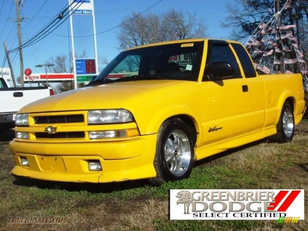 2003 chevrolet s10 xtreme extended cab in yellow 260100 truck n 39 sale. Black Bedroom Furniture Sets. Home Design Ideas