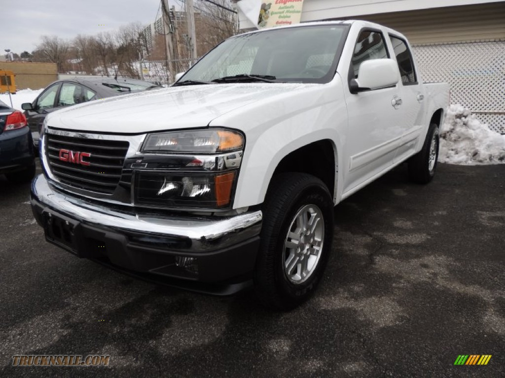 2012 gmc canyon sle crew cab 4x4 in summit white 144325 truck n 39 sale. Black Bedroom Furniture Sets. Home Design Ideas