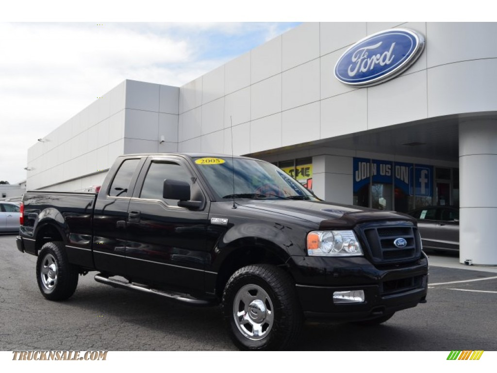 2005 ford f150 stx supercab 4x4 in black a78705 truck. Black Bedroom Furniture Sets. Home Design Ideas