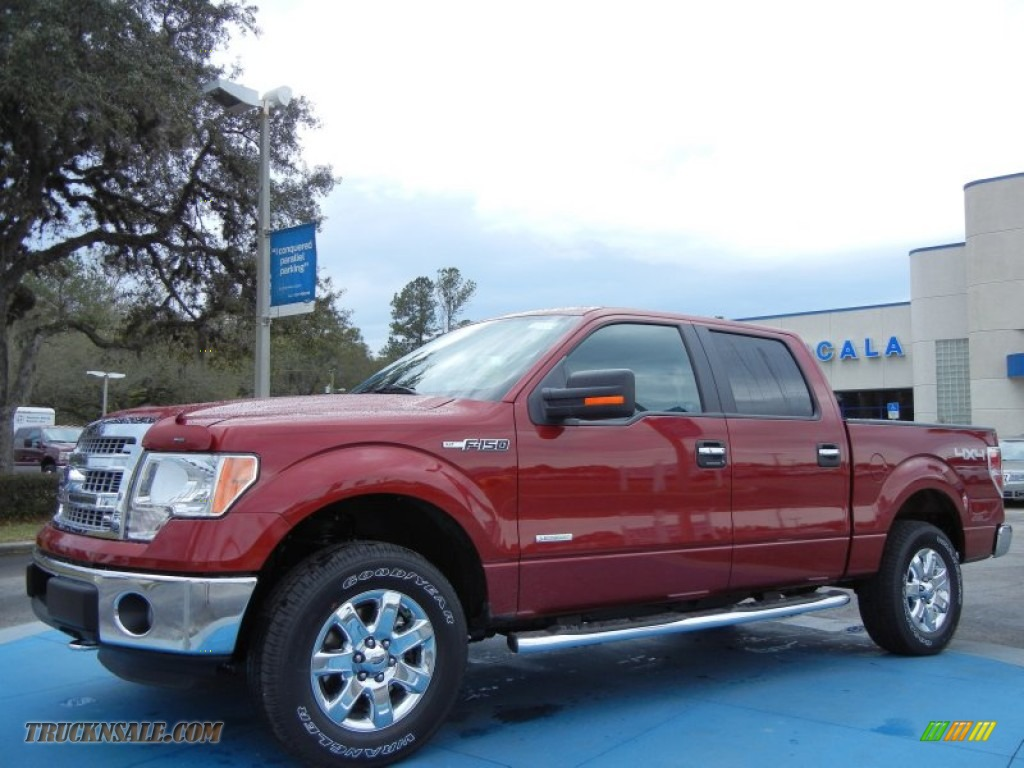 2013 ford f150 xlt supercrew 4x4 in ruby red metallic b50142 truck n 39 sale. Black Bedroom Furniture Sets. Home Design Ideas