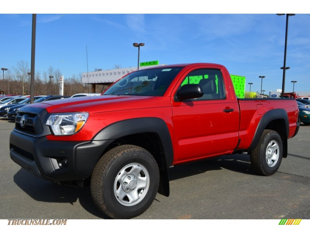 2013 toyota tacoma regular cab 4x4 in barcelona red metallic 015614 truck n 39 sale. Black Bedroom Furniture Sets. Home Design Ideas