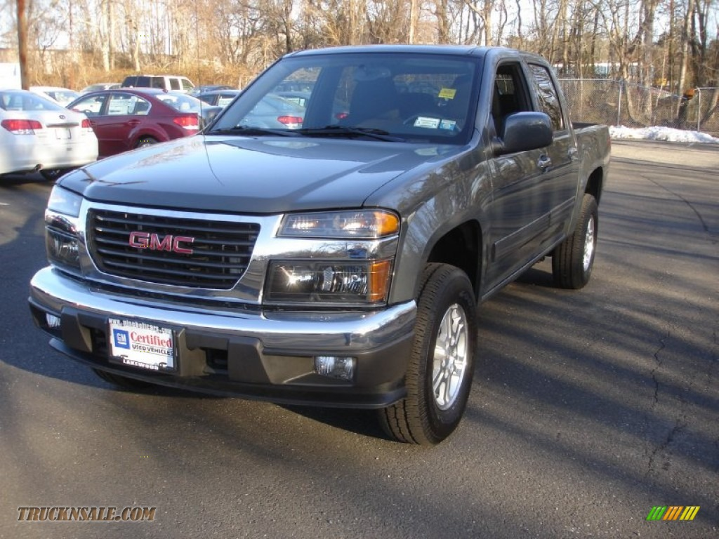 2012 gmc canyon sle crew cab 4x4 in dark steel gray metallic 145655 truck n 39 sale. Black Bedroom Furniture Sets. Home Design Ideas