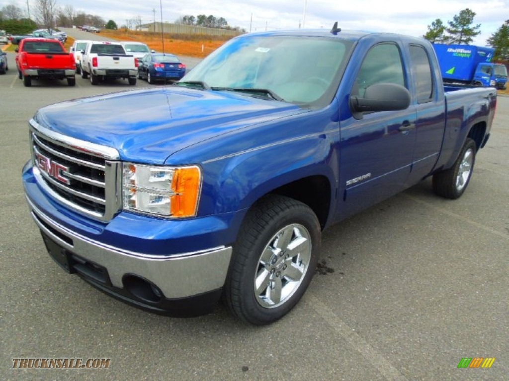 2013 GMC Sierra 1500 SLE Extended Cab in Heritage Blue ...