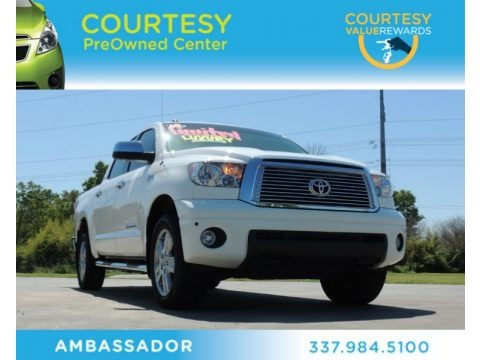 Super White 2010 Toyota Tundra Limited CrewMax 4x4