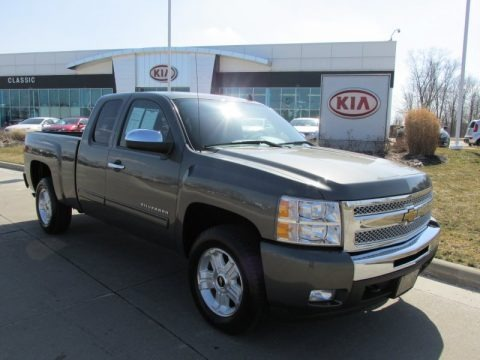 Steel Green Metallic 2011 Chevrolet Silverado 1500 LT Extended Cab 4x4