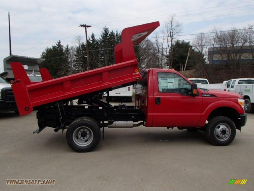 2013 Ford F350 Super Duty XL Regular Cab 4x4 Dump Truck in Vermillion Red - A40956 | Truck N' Sale