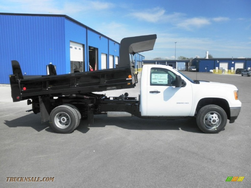 2013 GMC Sierra 3500HD Regular Cab 4x4 Dump Truck in Summit White - 207772 | Truck N' Sale