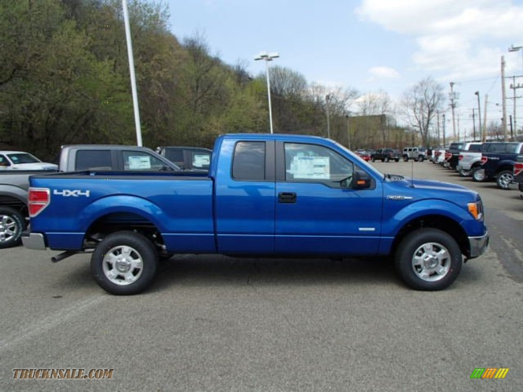 F150 Double Cab >> 2013 Ford F150 XLT SuperCab 4x4 in Blue Flame Metallic ...