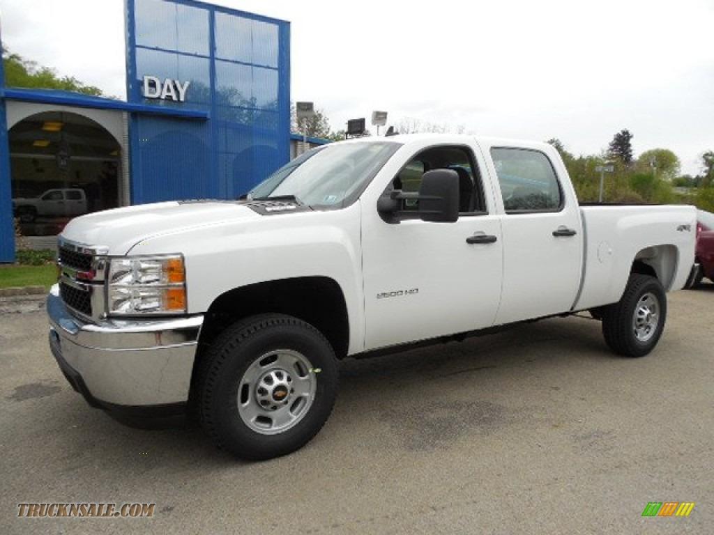 2013 chevrolet silverado 2500hd work truck crew cab 4x4 in summit white 206946 truck n 39 sale. Black Bedroom Furniture Sets. Home Design Ideas