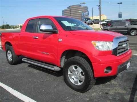 Radiant Red 2007 Toyota Tundra Limited Double Cab