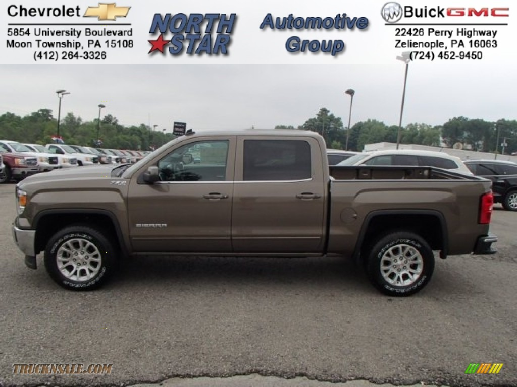 2014 gmc sierra 1500 sle crew cab 4x4 in bronze alloy metallic 125789 truck n 39 sale. Black Bedroom Furniture Sets. Home Design Ideas