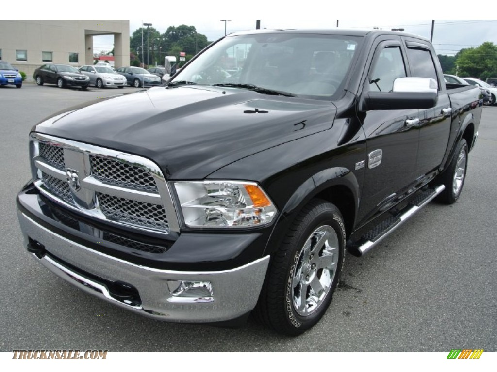 2012 dodge ram 1500 laramie longhorn crew cab 4x4 in black 219216 truck n 39 sale. Black Bedroom Furniture Sets. Home Design Ideas