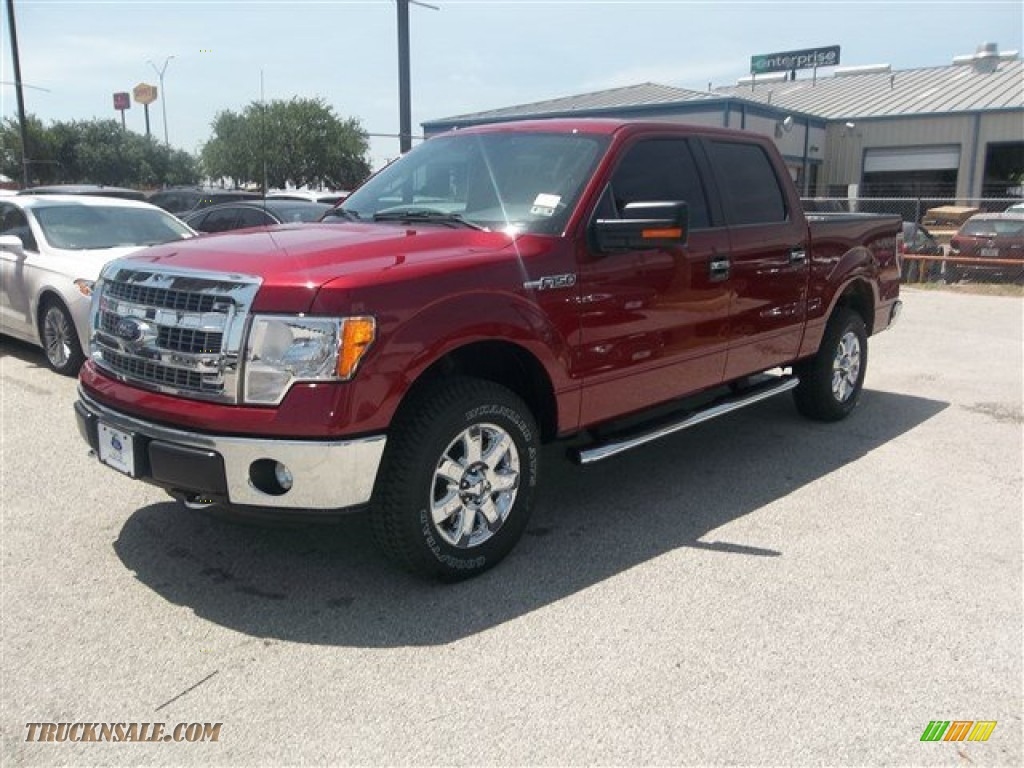 2013 ford f150 xlt supercrew 4x4 in ruby red metallic e75675 truck n 39 sale. Black Bedroom Furniture Sets. Home Design Ideas