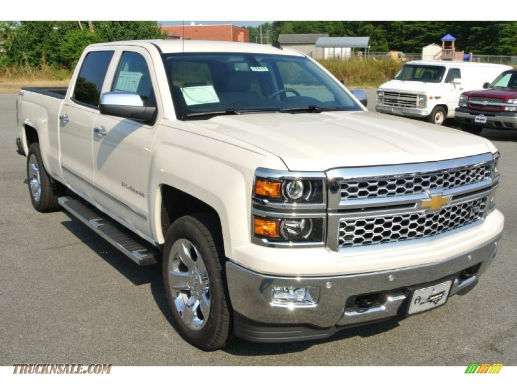 2014 chevrolet silverado 1500 ltz crew cab 4x4 in white diamond tricoat 181927 truck n 39 sale. Black Bedroom Furniture Sets. Home Design Ideas