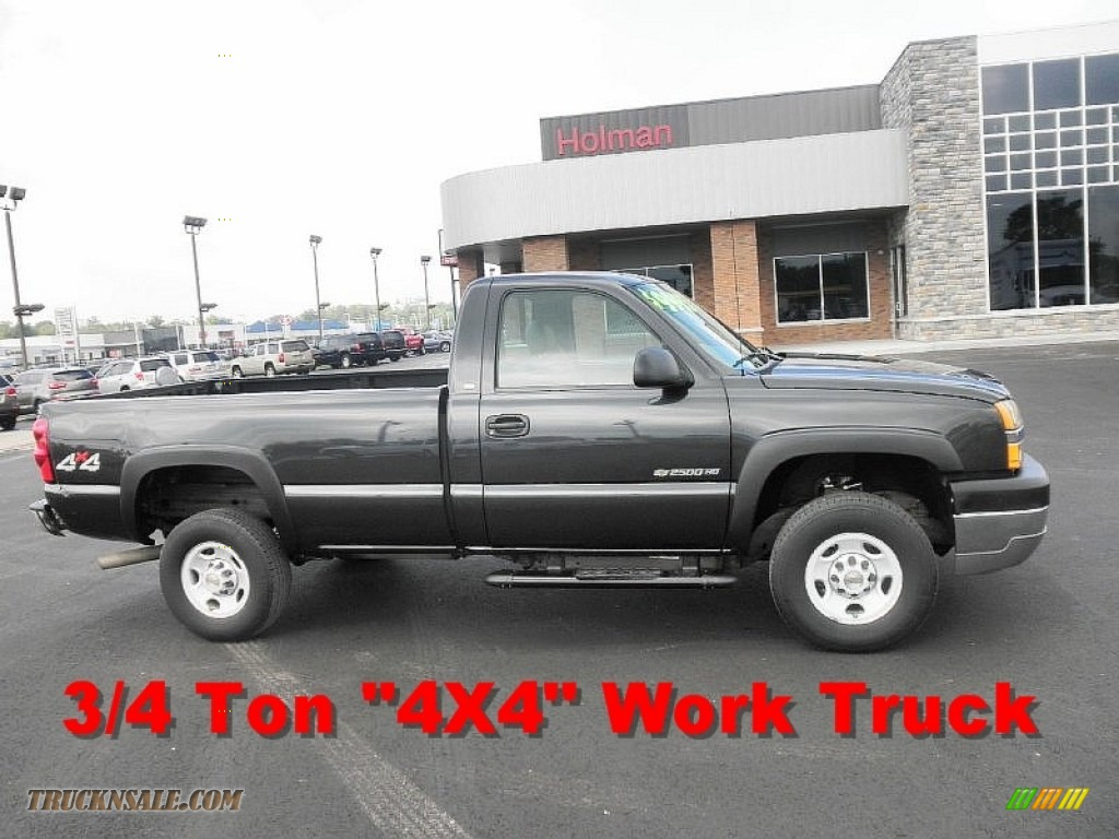 2004 chevrolet silverado 2500hd regular cab 4x4 in black 298725 truck n 39 sale. Black Bedroom Furniture Sets. Home Design Ideas