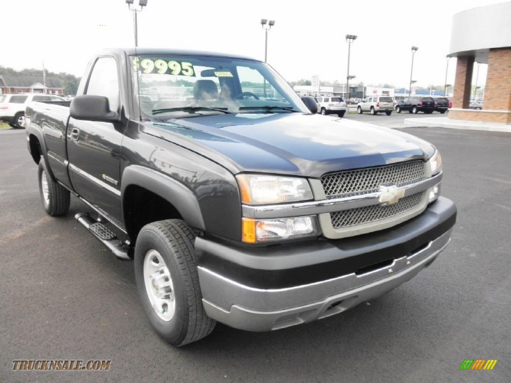 2004 chevrolet silverado 2500hd regular cab 4x4 in black photo 2 298725 truck n 39 sale. Black Bedroom Furniture Sets. Home Design Ideas