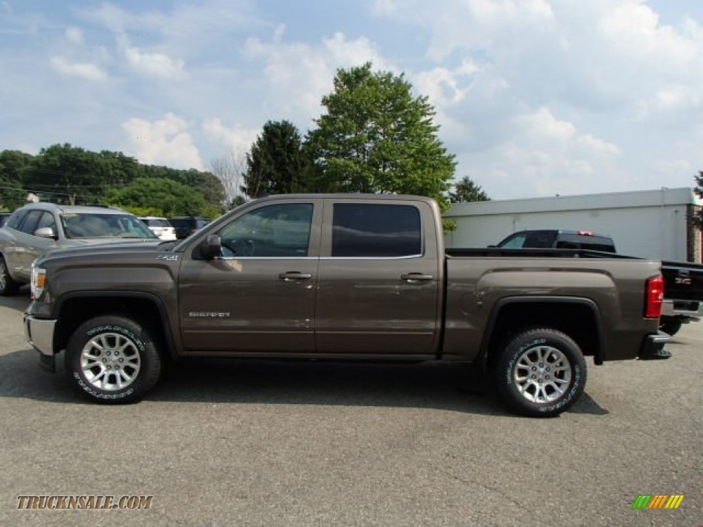 2014 gmc sierra 1500 sle crew cab 4x4 in bronze alloy metallic 194736 truck n 39 sale. Black Bedroom Furniture Sets. Home Design Ideas