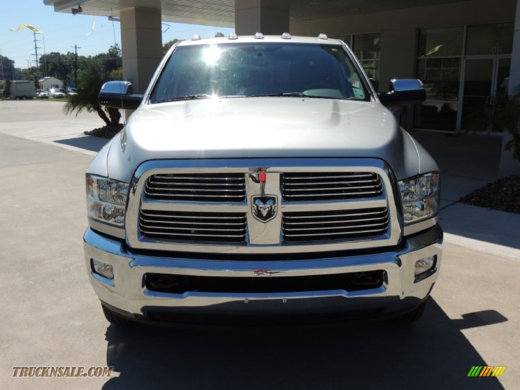 2012 dodge ram 3500 hd laramie longhorn mega cab 4x4 dually in bright silver metallic photo 2. Black Bedroom Furniture Sets. Home Design Ideas